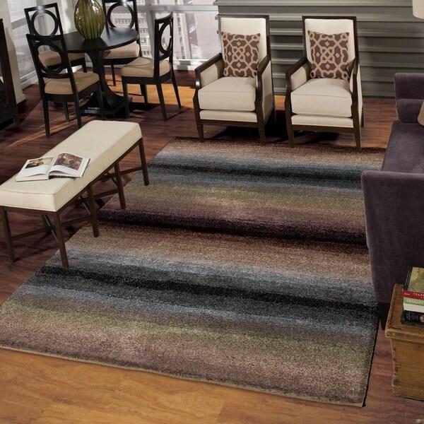 Carolina Weavers Grand Comfort Collection Tie-in Multi Shag Area Rug (9' x 13')