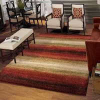Carolina Weavers Grand Comfort Collection Tie-in Red Shag Area Rug (9' x 13') - 9' x 13'