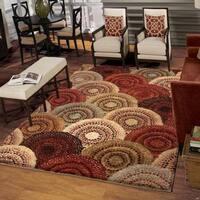 Carolina Weavers Grand Comfort Collection Pinochle Multi Shag Area Rug - 9' x 13'