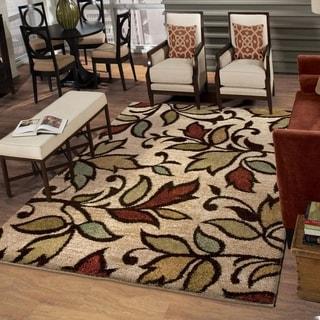 Carolina Weavers Grand Comfort Collection Color Domain Beige Shag Area Rug (9' x 13') - 9' x 13'