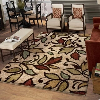 Carolina Weavers Grand Comfort Collection Color Domain Beige Shag Area Rug (9' x 13') - 9' x 13'