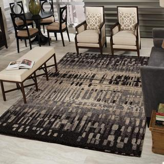 Carolina Weavers Comfy and Cozy Grand Comfort Collection Misty Black Shag Area Rug (9' x 13')