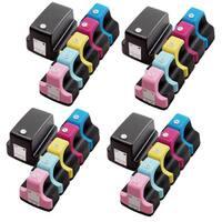 24 Pack HP 02 (4 Black, 4 Cyan, 4 Magenta, 4 Yellow, 4 Light Cyan, 4 Light Magenta ) Ink Cartridge (Pack of 24)