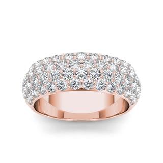 Link to De Couer  IGI Certified  14k Rose Gold 2ct TDW Diamond Wedding Anniversary Band Similar Items in Wedding Rings