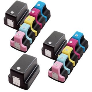 13 Pack HP 02 (3 Black, 2 Cyan, 2 Magenta, 2 Yellow, 2 Light Cyan, 2 Light Magenta ) Ink Cartridge (Pack of 13)