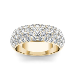 De Couer 14k Yellow Gold 2ct TDW Diamond Wedding Band