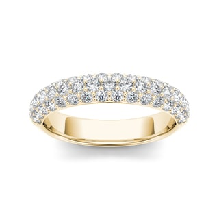 De Couer 14k Yellow Gold 1 1/4ct TDW Diamond Women's Wedding Band