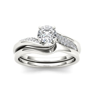 De Couer 14k White Gold 5/8ct TDW Classic Diamond Bypass Engagement Ring - White H-I