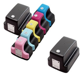 7 Pack HP 02 (2 Black, 1 Cyan, 1 Magenta, 1 Yellow, 1 Light Cyan, 1 Light Magenta ) Ink Cartridge (Pack of 7)