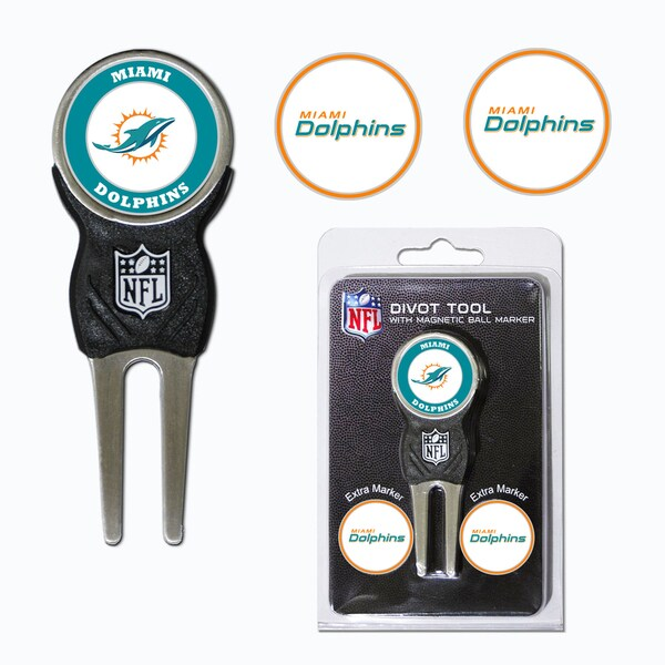 NFL Miami Dolphins Golf Divot Tool Pack