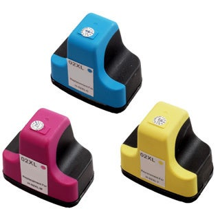 3 Pack HP 02 Cyan C8771WN, Magenta C8772WN, Yellow C8773WN Ink Cartridge (Pack of 3)