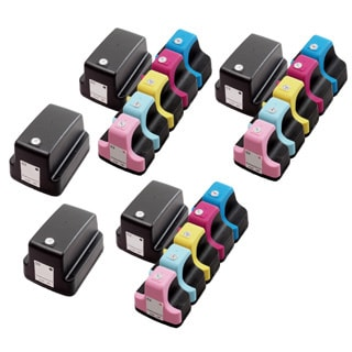 20 Pack HP 02 (5 Black, 3 Cyan, 3 Magenta, 3 Yellow, 3 Light Cyan, 3 Light Magenta ) Ink Cartridge (Pack of 20)