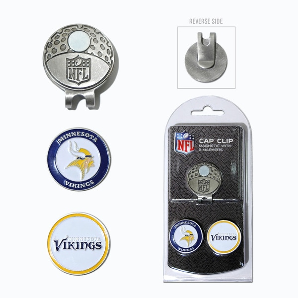 NFL Minnesota Vikings Magnetic Cap Clip and Marker Set