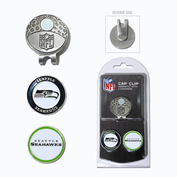 NFL Seattle Seahawks Magnetic Cap Clip and Marker Set