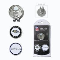 NFL Baltimore Ravens Magnetic Cap Clip and Marker Set