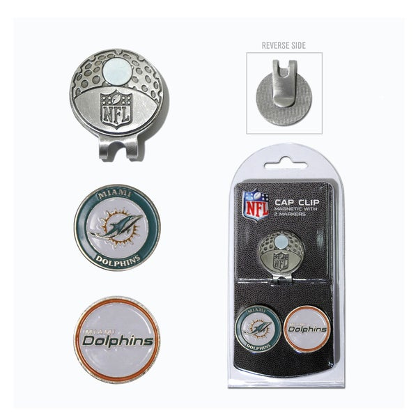 NFL Miami Dolphins Magnetic Cap Clip and Marker Set
