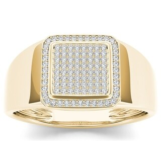 De Couer 10k Yellow Gold 1/4ct TDW Diamond Men's Ring