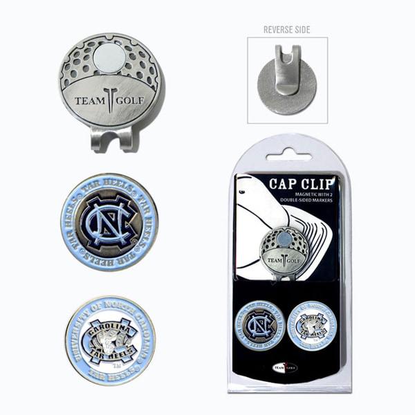 NCAA North Carolina Magnetic Cap Clip and Marker Set