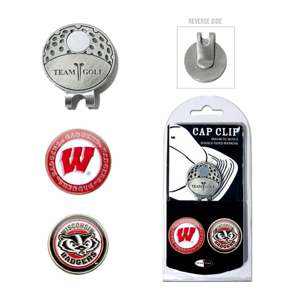 NCAA Wisconsin Badgers Magnetic Cap Clip and Marker Set
