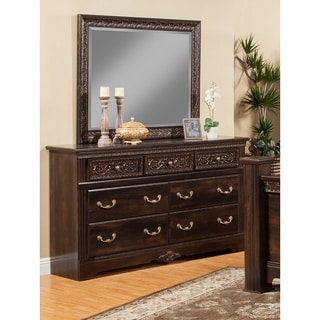 Sandberg Furniture Andorra 7-drawer Dresser and Mirror