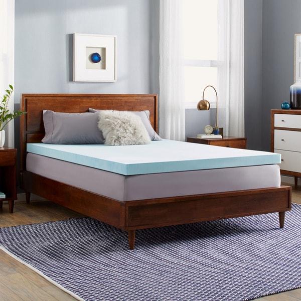 slumber solutions choose your comfort 3inch gel memory foam mattress topper - Gel Memory Foam Mattress Topper