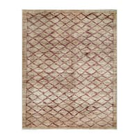 Herat Oriental Afghan Hand-knotted Tribal Vegetable Dye Gabbeh Wool Rug (4'9 x 6') - 4'9 x 6'