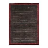 Handmade Herat Oriental Afghan Tribal Vegetable Dye Gabbeh Wool Rug (Afghanistan) - 5' x 6'9