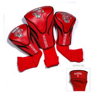 NCAA Wisconsin Badgers Contour Wood Headcover Set