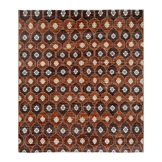 Herat Oriental Afghan Hand-knotted Tribal Vegetable Dye Gabbeh Wool Rug (8'3 x 9'3)