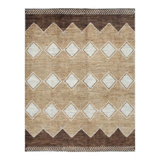 Herat Oriental Afghan Hand-knotted Tribal Vegetable Dye Gabbeh Tan/ Gray Wool Rug (8' x 10'4)