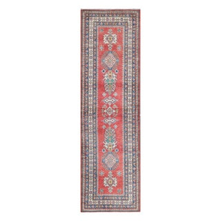 Herat Oriental Afghan Hand-knotted Tribal Vegetable Dye Kazak Wool Runner (2'8 x 9'4)