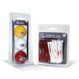 Kansas City Chiefs NFL Golf Ball and Tee Set