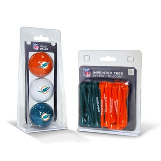 Miami Dolphins NFL Golf Ball and Tee Set