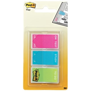 Post-it Flags Study Memo Assorted Bright Colors Page Flags with Message (Set of 60)