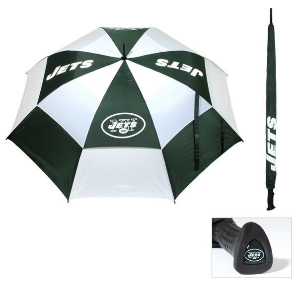 NFL New York Jets 62-inch Double Canopy Golf Umbrella