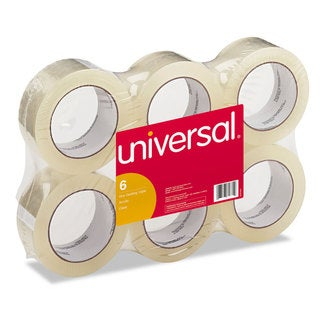 Universal Box Clear Sealing Tape (2 Packs of 6 Rolls)