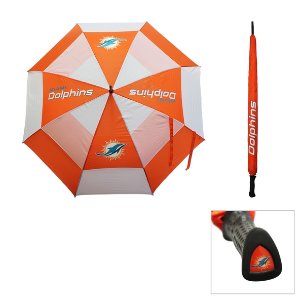 NFL Miami Dolphins 62-inch Double Canopy Golf Umbrella