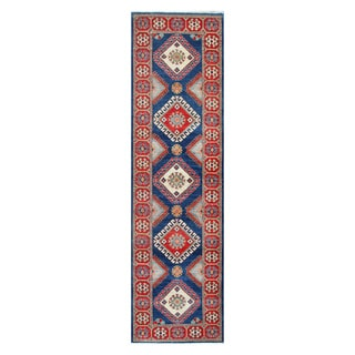Herat Oriental Afghan Hand-knotted Vegetable Dye Tribal Kazak Wool Rug (2'9 x 9'8)