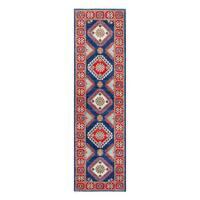 Herat Oriental Afghan Hand-knotted Tribal Vegetable Dye Kazak Wool Runner (2'9 x 9'8) - 2'9 x 9'8