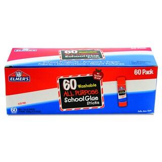 Elmer's Washable All Purpose School Clear Glue Sticks (Box of 60)