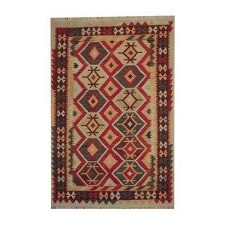 Herat Oriental Afghan Hand-woven Tribal Vegetable Dye Wool Kilim (5'4 x 8')