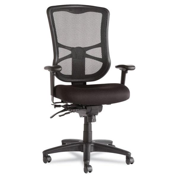 Alera Elusion Series Black Mesh High-Back Multifunction Chair