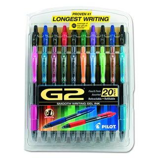 Pilot G2 Premium Retractable Assorted Gel Ink Pen (Pack of 20)