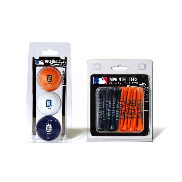 Detroit Tigers MLB Golf Ball and Tee Set