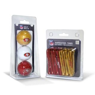 San Francisco 49ers NFL Golf Ball and Tee Set