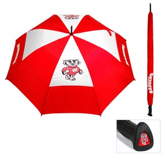 NCAA Wisconsin Badgers 62-inch Double Canopy Golf Umbrella