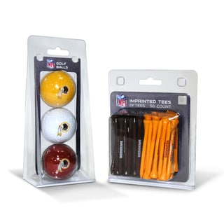 Washington Redskins NFL Golf Ball and Tee Set