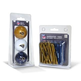 Los Angeles Rams NFL Golf Ball and Tee Set