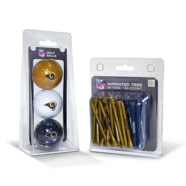 Los Angeles Rams NFL Golf Ball and Tee Set