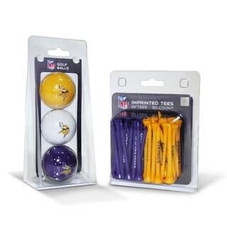 Minnesota Vikings NFL Golf Ball and Tee Set